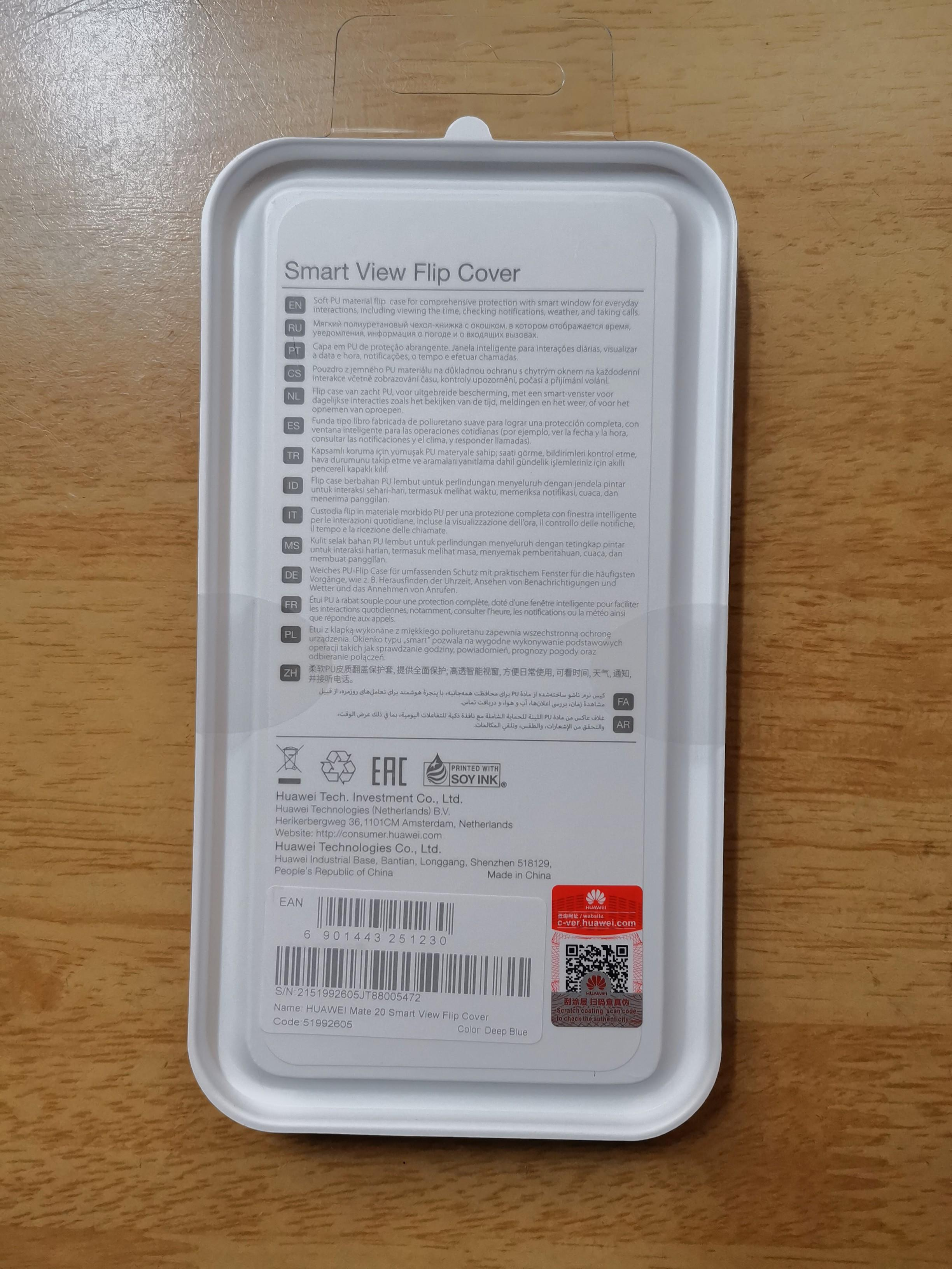 Genuine Authentic Huawei Mate 20 Smart View Flip Cover