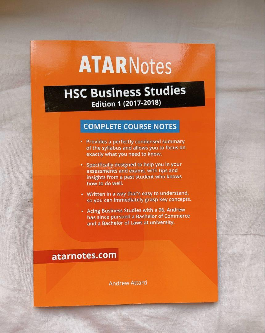 *NEW SYLLABUS HSC* ATARNOTES BUSINESS STUDIES COMPLETE COURSE NOTES