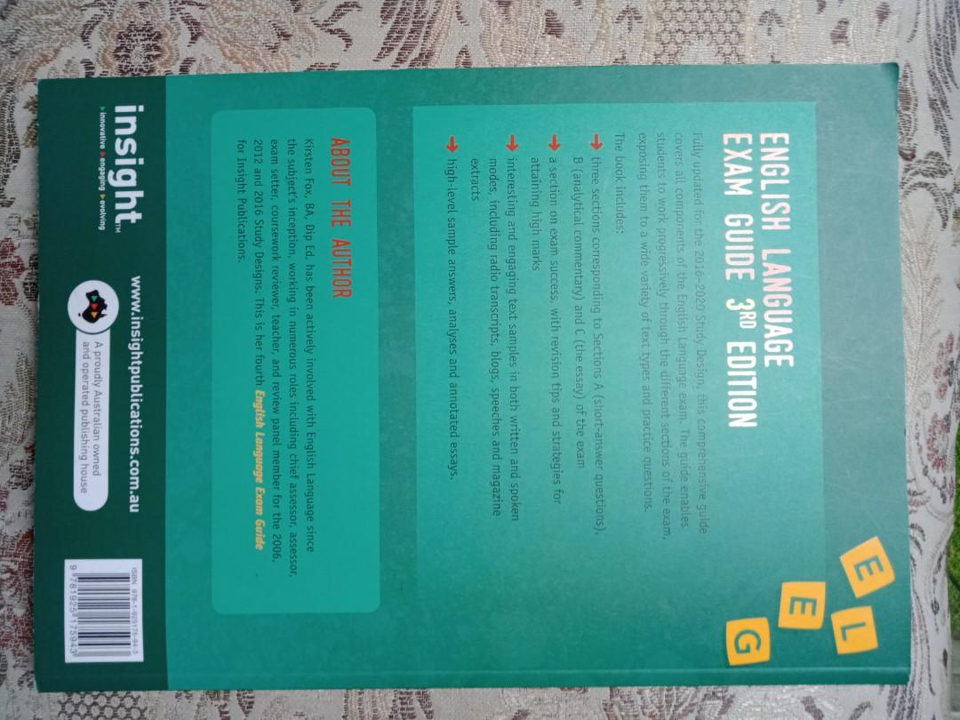 Insight VCE English Language Exam Guide 3rd Edition