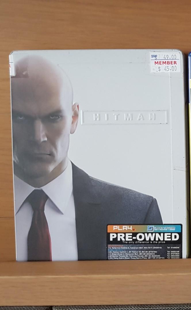Kaset BD PS4 Hitman Steel Case Edition Bekas Mulus