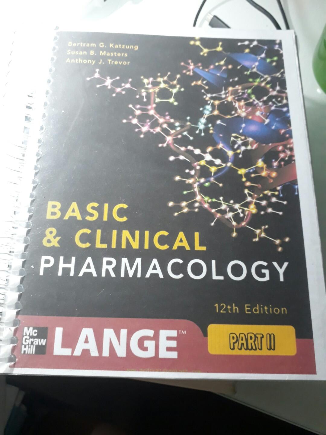 Katzung Basic and Clinical Pharmacology 12th edition - divided into 3 volumes