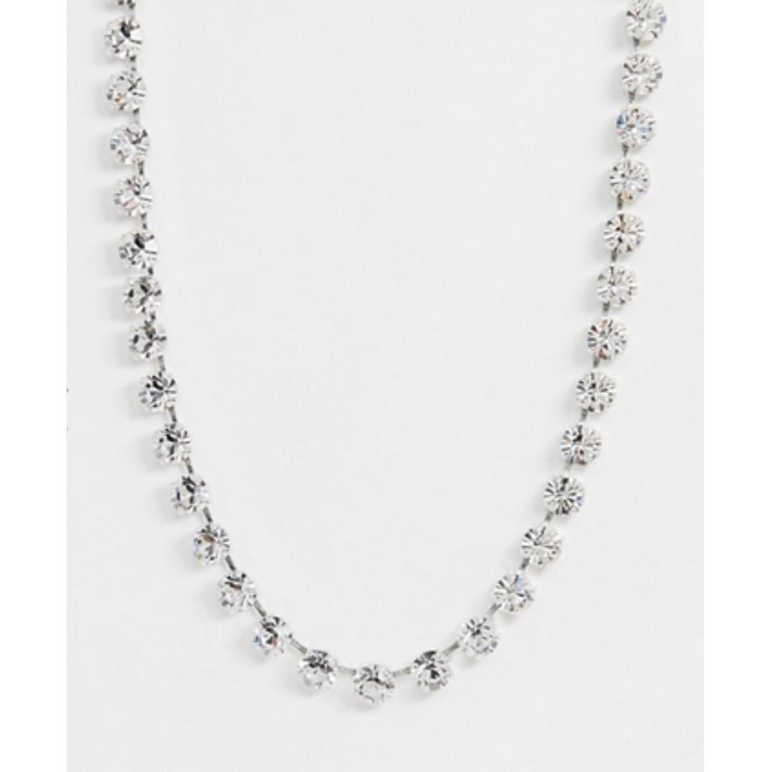 Krystal London Swarovski Crystal row necklace
