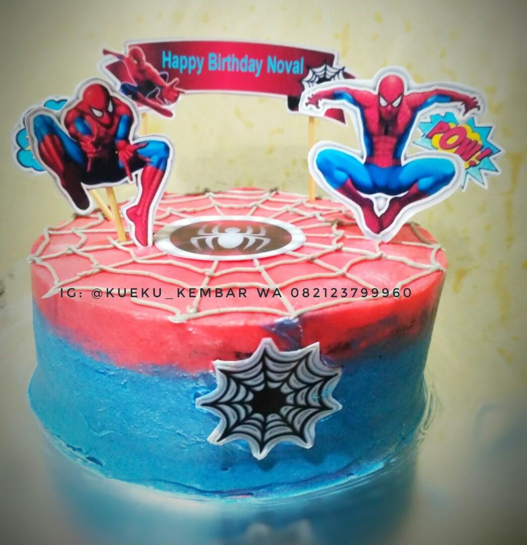 Kue Ulang Tahun Karakter Spiderman Makanan Minuman Kue Kue Di Carousell