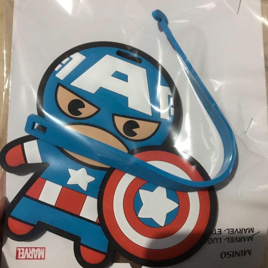Luggage Tag Miniso X Marvel Captain America Asli