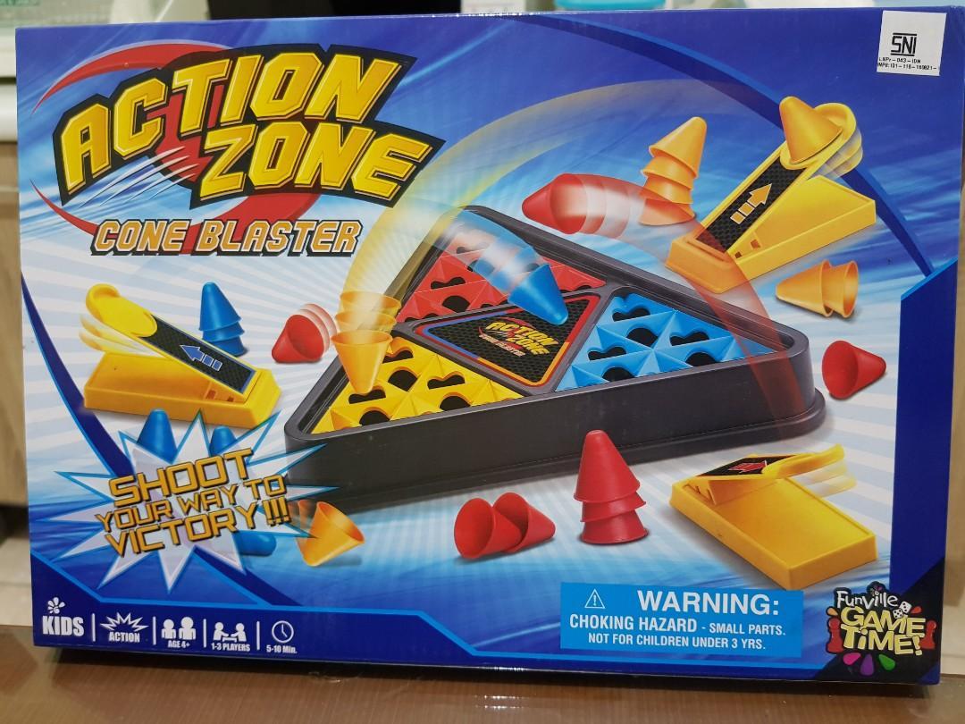 Mainan anak board game action zone cone blaster