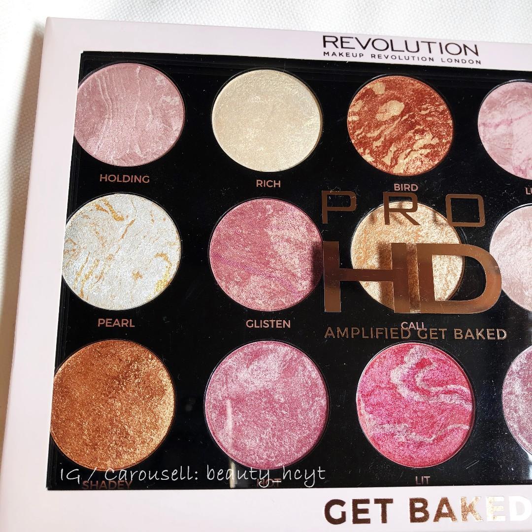 Makeup Revolution HD Pro Amplified Get Baked Face Palette 胭脂 眼影 光影
