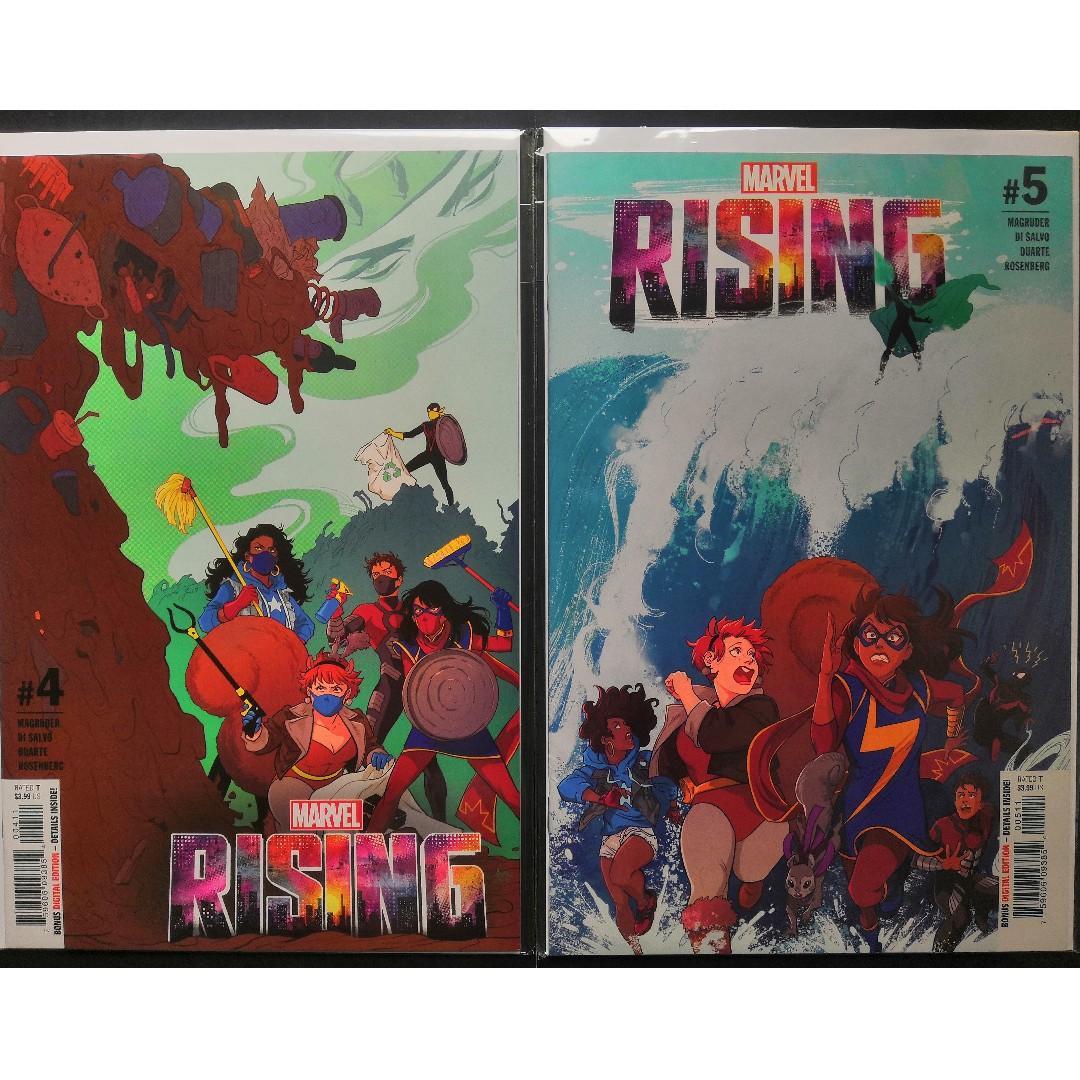 Marvel Rising (1 - 5 Complete Set), Marvel Rising: Alpha & Omega, and Marvel Rising: Ms. Marvel / Squirrel Girl