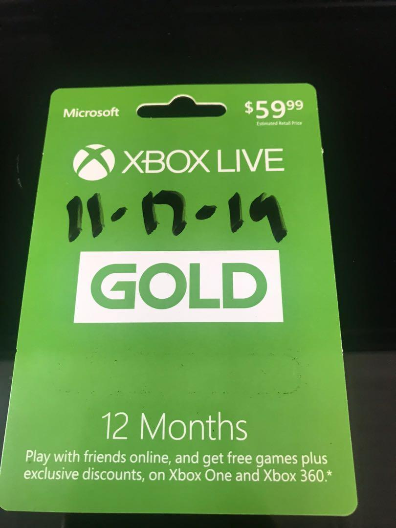 Microsoft Xbox Live- 12 month Membership
