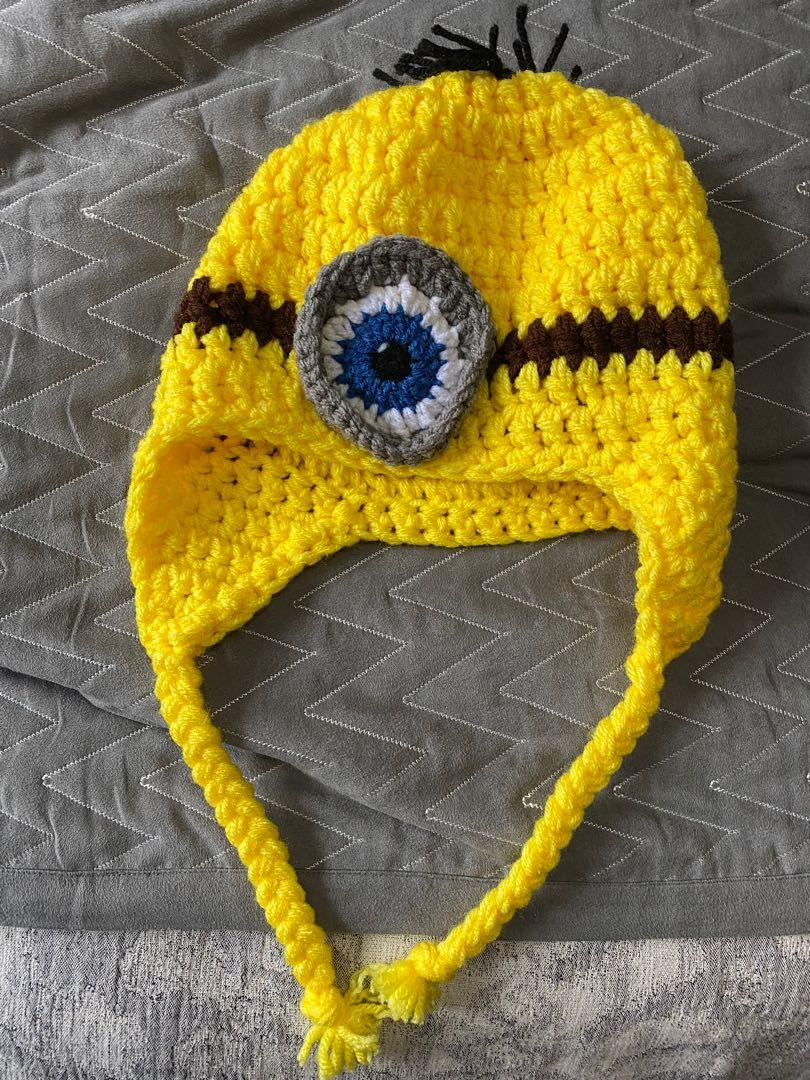 New knitted minion winter hat