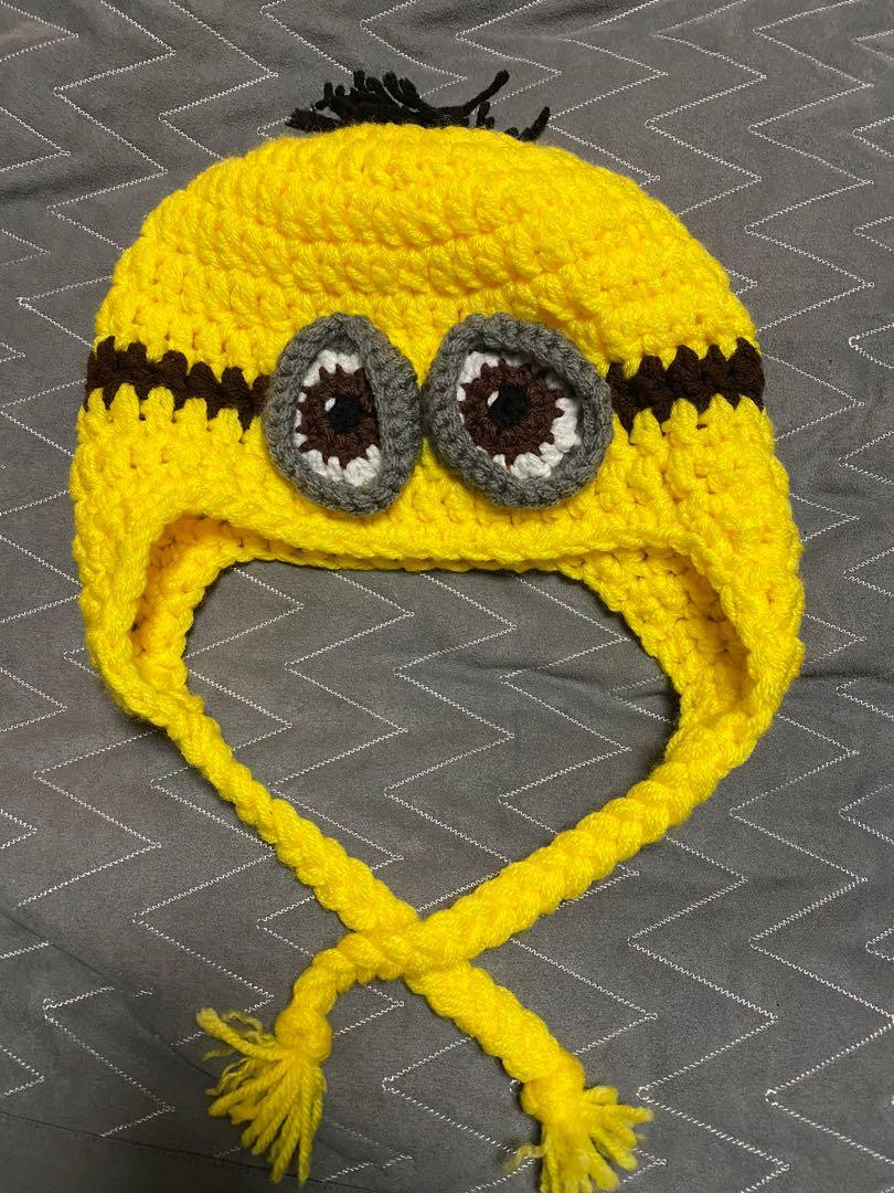 New minion knitted winter hat