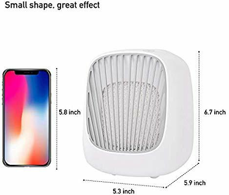 🔥OFFER🔥USB Personal Space Air Coolers Fan, Mini Desktop Humidifier, Small Evaporative Air Conditioner with 3 Speeds for Office Home Summer Outdoors