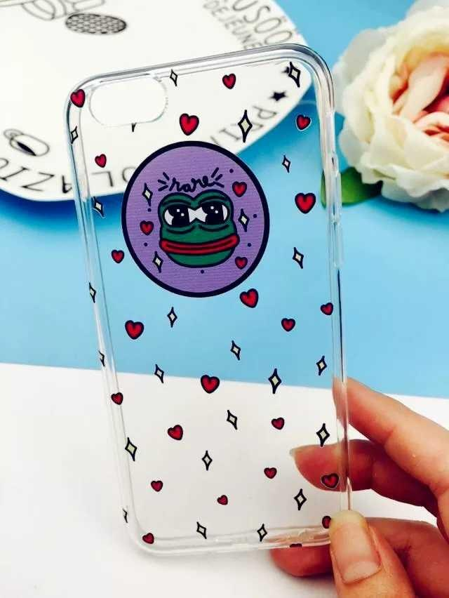 PEPE蛙love透明手機殼手機軟殼iPhone/Android Phone Case