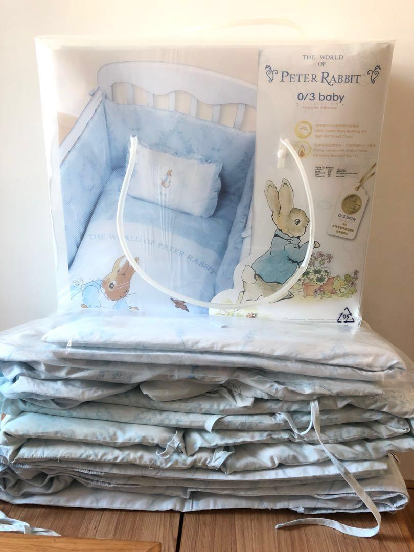 兩套Peter Rabbit BB 床上用品送涼墊