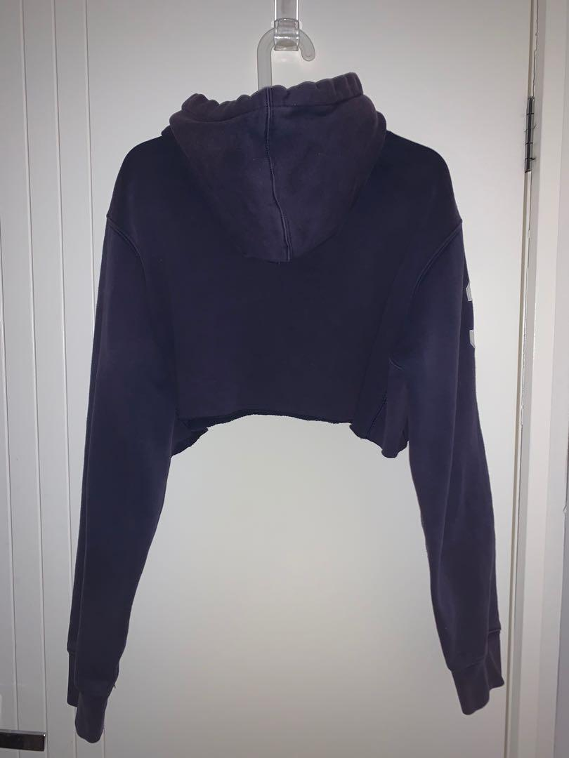 Polo by Ralph Lauren Cropped Hoodie Authentic Vintage Big Pony Embroidery