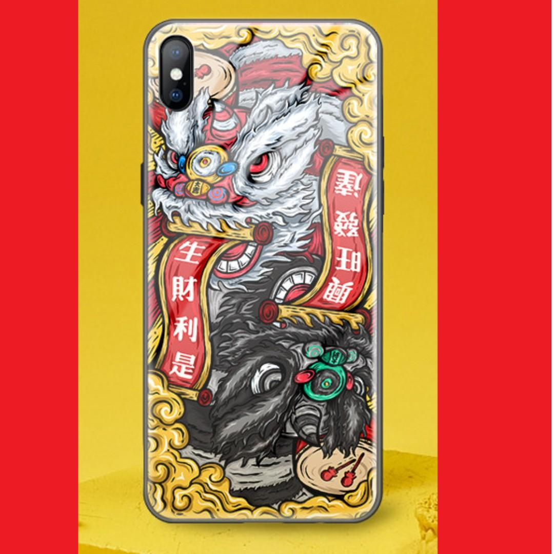 PROMO💥iPhone XS Max Tempered Glass Casing - 南派醒狮💥