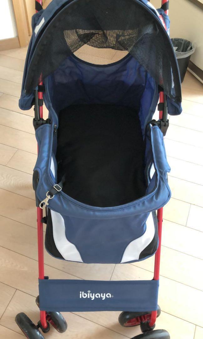 Royal blue 台灣製造 ibiyaya牌寵物手推車 99.999%new