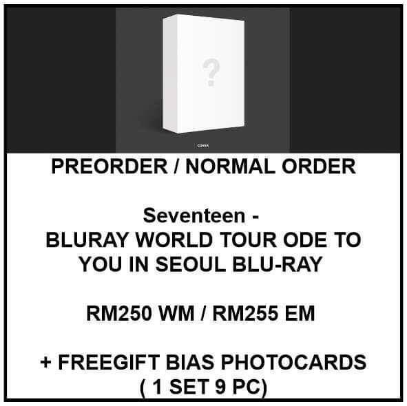 Seventeen - BLURAY WORLD TOUR ODE TO YOU IN SEOUL BLU-RAY  - PREORDER/NORMAL ORDER/GROUP ORDER/ALBUM GO + FREE GIFT BIAS PHOTOCARDS (1 ALBUM GET 1 SET PC, 1 SET GET 9 PC)