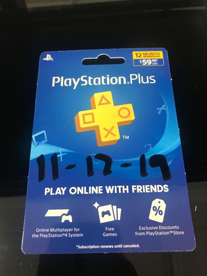 Sony PlayStation Plus 12- Month membership