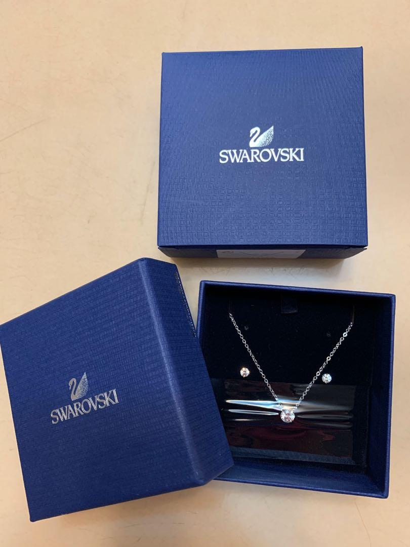 Swarovski Necklace and Earrings