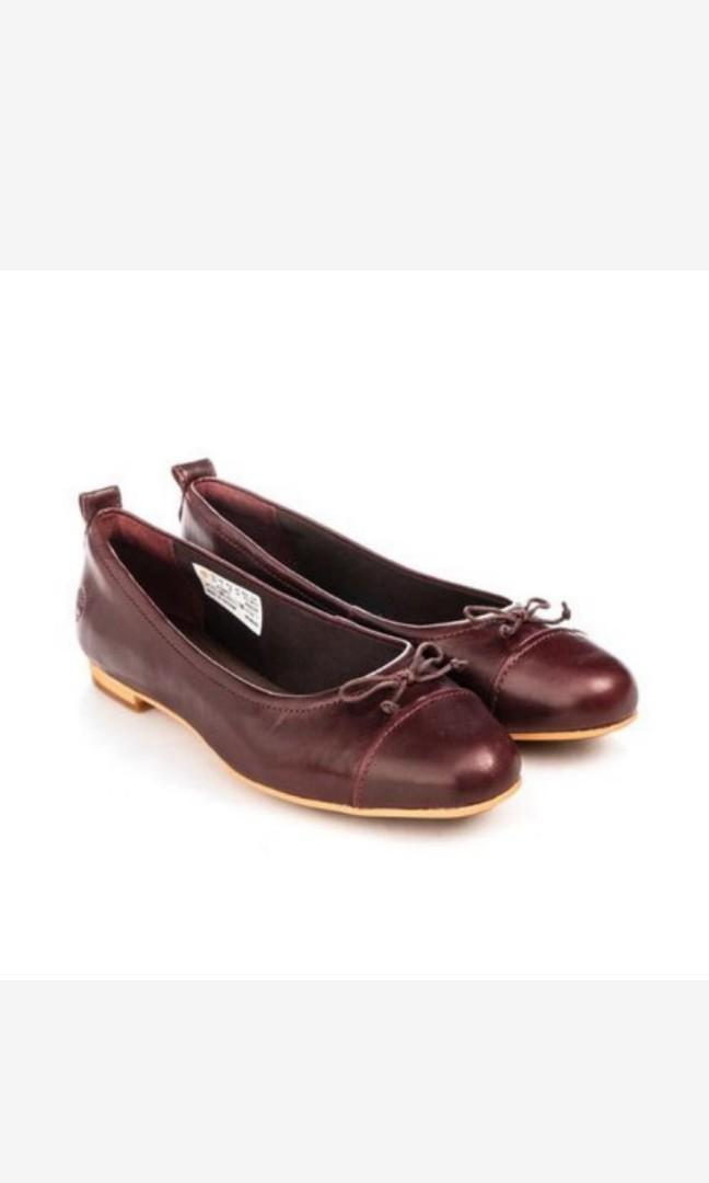 Timberland真皮娃娃鞋芭蕾舞鞋平底鞋