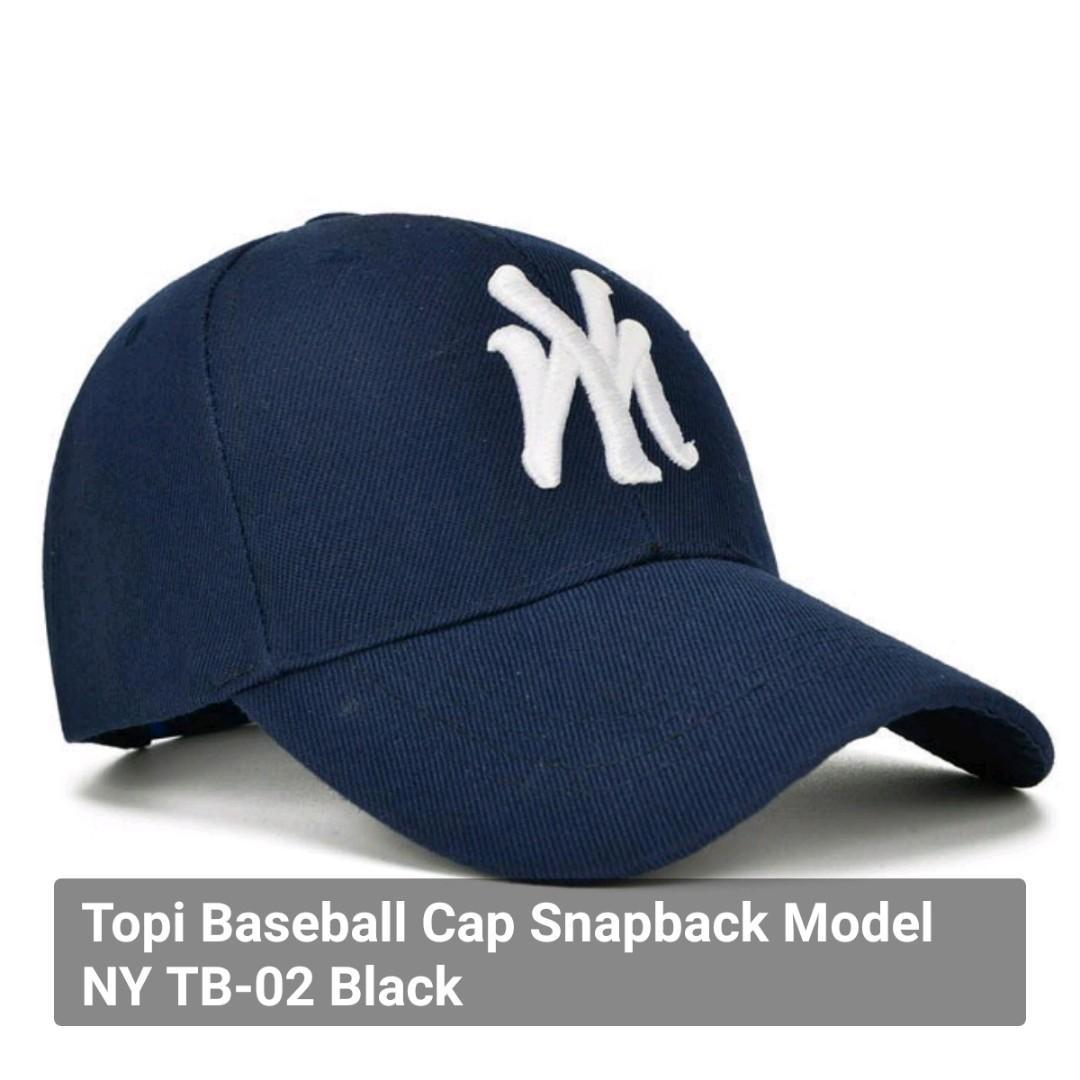 Topi Baseball Cap Snapback Model NY TB-02 Black