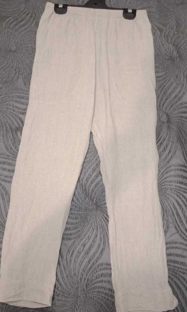 Various jeans, leggings and organic cotton  pants size 6 and 8