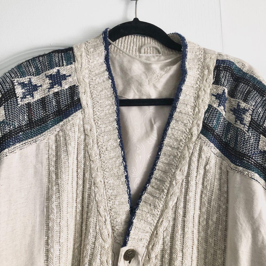 Vintage Oversized Knit Boho Sweater Jacket
