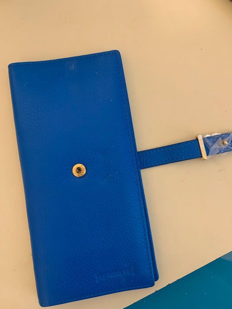 寶藍色軟皮質長銀包Wallet #giftforher