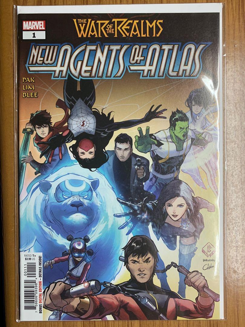 War of the Realms New Agents of Atlas #1 Comic Odyssey Exclusive Variant CBCS 9.8 signed by Mico Suayan