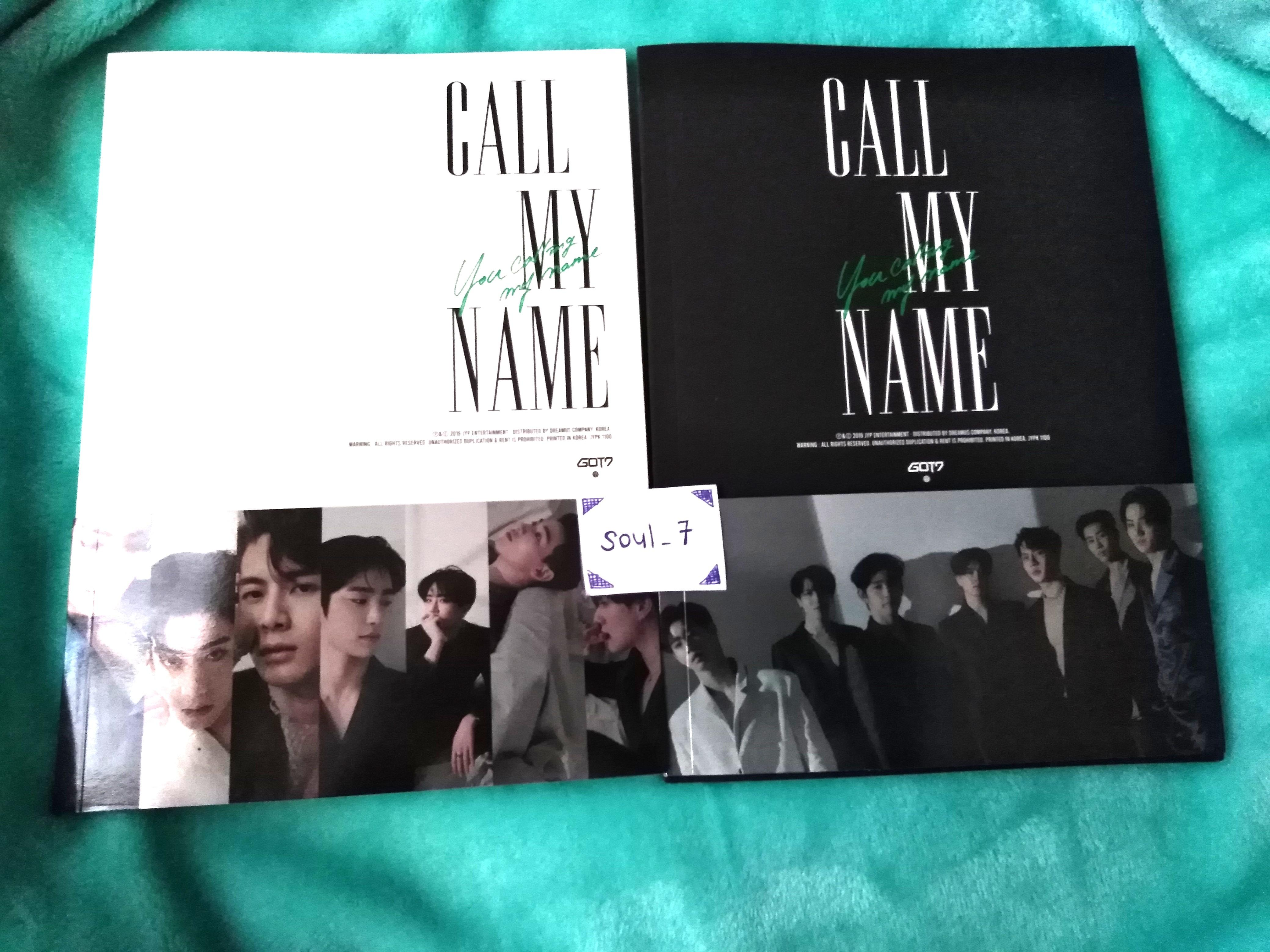 [WTS] GOT7 CALL MY NAME ALBUM + PHOTO ESSAY + POSTER
