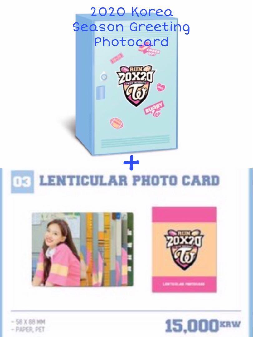 WTS Twice Run 20X20 Korea Season Greeting Photocards