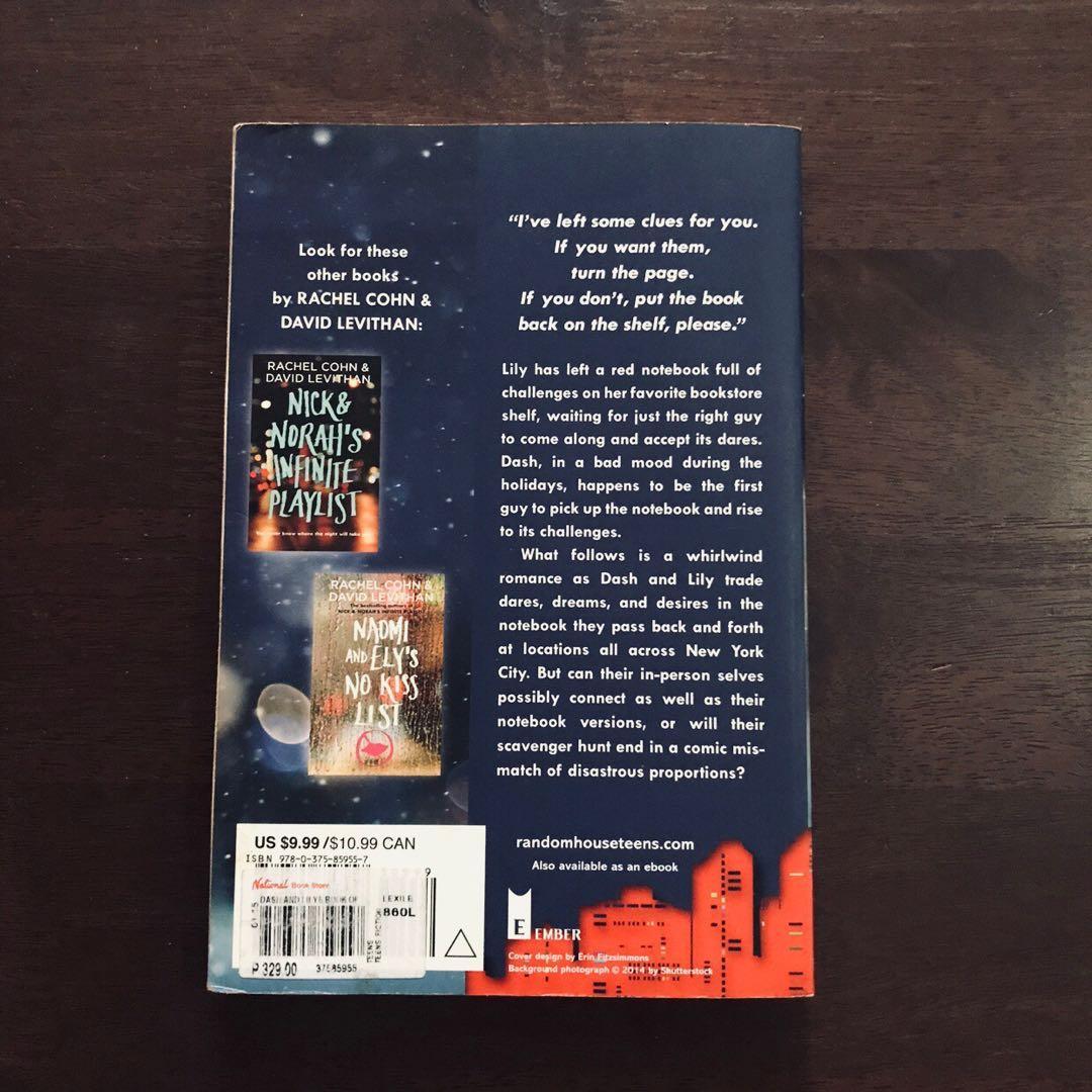 YA Book: Dash & Lily's Book of Dares by Rachel Cohn & David Levithan