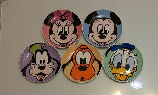 版權迪士尼5盤,5圖, 20.5公分。  稀少收藏精品