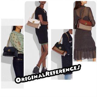 PO.3-5hari. Coach bag. Size 25x9x16cm.(LIMITED STOCK). Coach seri Parker signature leather bag. 4 Warna.