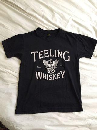 Teeling Whiskey Black Graphic Promo T Shirt S to M