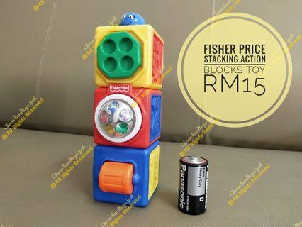 Fisher Price Stacking Action Blocks Toy