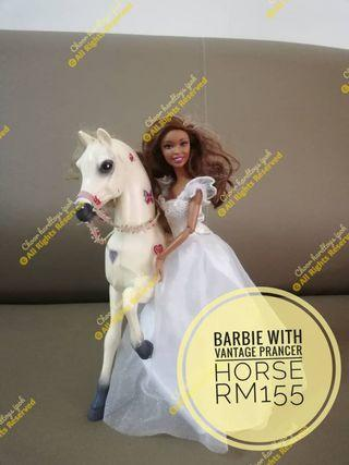 Barbie With vantage prancer horse