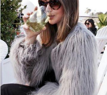 Grey Faux Fur Jacket