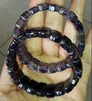 頂級烏拉圭紫晶手排,烏拉圭紫水晶手排手串,33公克,紫水晶手排一條888二條1600