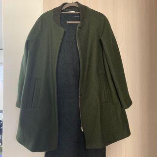 已保留 @yeiyei55 羊毛棒球外套大衣 日本品牌 墨綠色 大地色 oversize