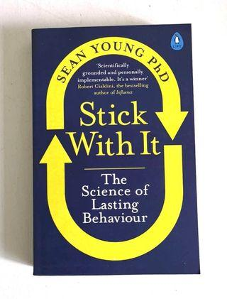 《2018 BRAN-NEW PAPERBACK + Learn How To Make Real, Lasting Changes In Your Life》Sean Young - STICK WITH IT : The Science of Lasting Behaviour