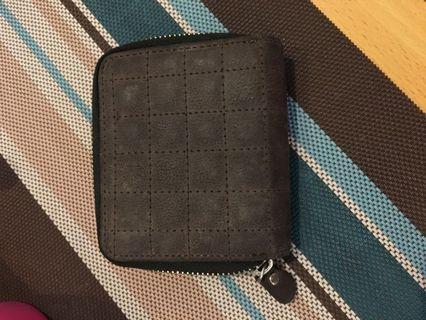 七成新-灰色短夾 皮夾