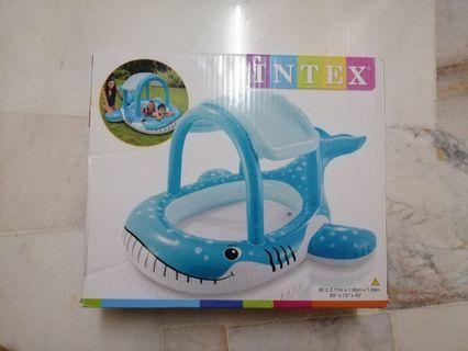 INTEX Blue Whales Spray Kids Swimming Pool