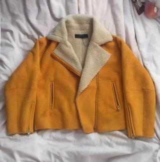 Yellow Suede/Sherpa Jacket