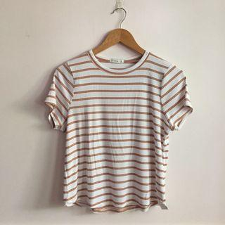 Stripes Girlfriend Ribbed Tee