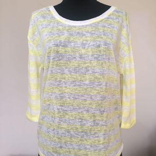 Yellow Stripe Sweatshirt