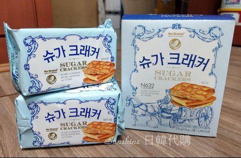 限量現貨 韓國 No Brand 薄脆甜餅 糖餅 蘇打餅乾 270g