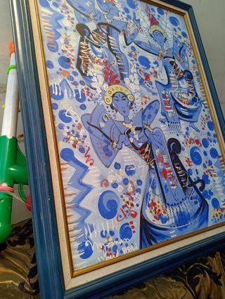 Lukisan bali ubud dancer