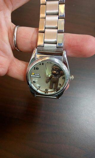精美瑪莉歐手錶  有電的