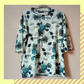 #1111special atasan wanita 3/4 bunga floral blouse import